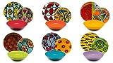 Excelsa Afrika - Vajilla de 18 piezas, porcelana y cerámica, multicolor