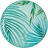 Luminarc Plato de postre Crazifolia, 20,5 cm, 1 unidad, cristal, azul, multicolor, verde, 20,5 cm