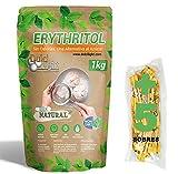 DULCILIGHT Eritritol 1 Kg 100% Natural Edulcorante Cero Calorías + (5 sobres Edulcorante Moreno) Apto Dietas Keto y Cetogénicas
