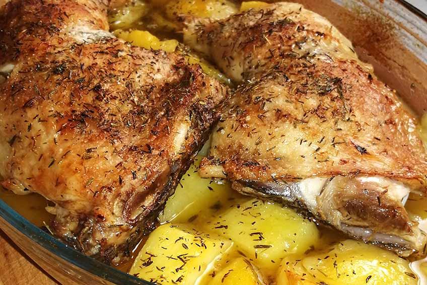 Pollo al Horno al Limón y Tomillo