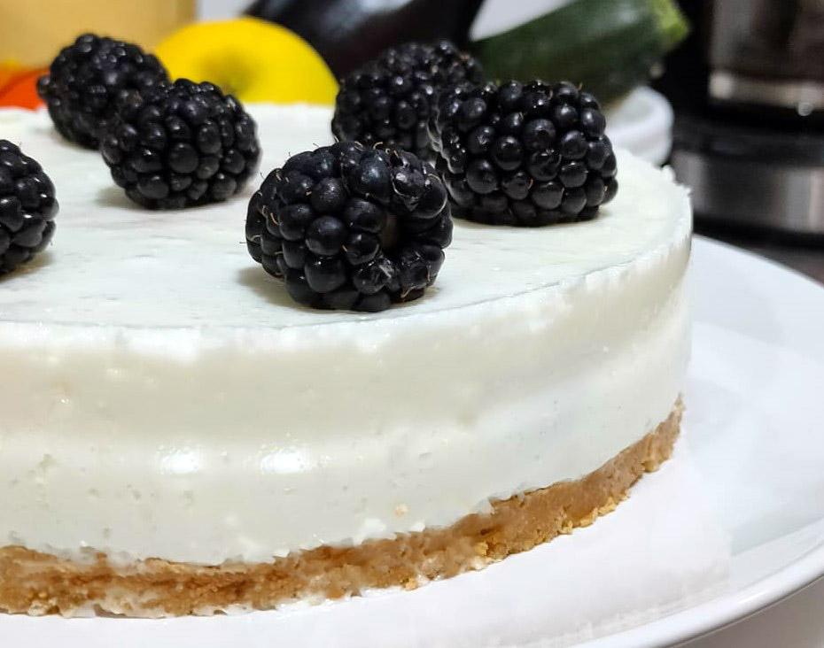 Pastel de Yogur Sin Horno (Sin Azúcar)