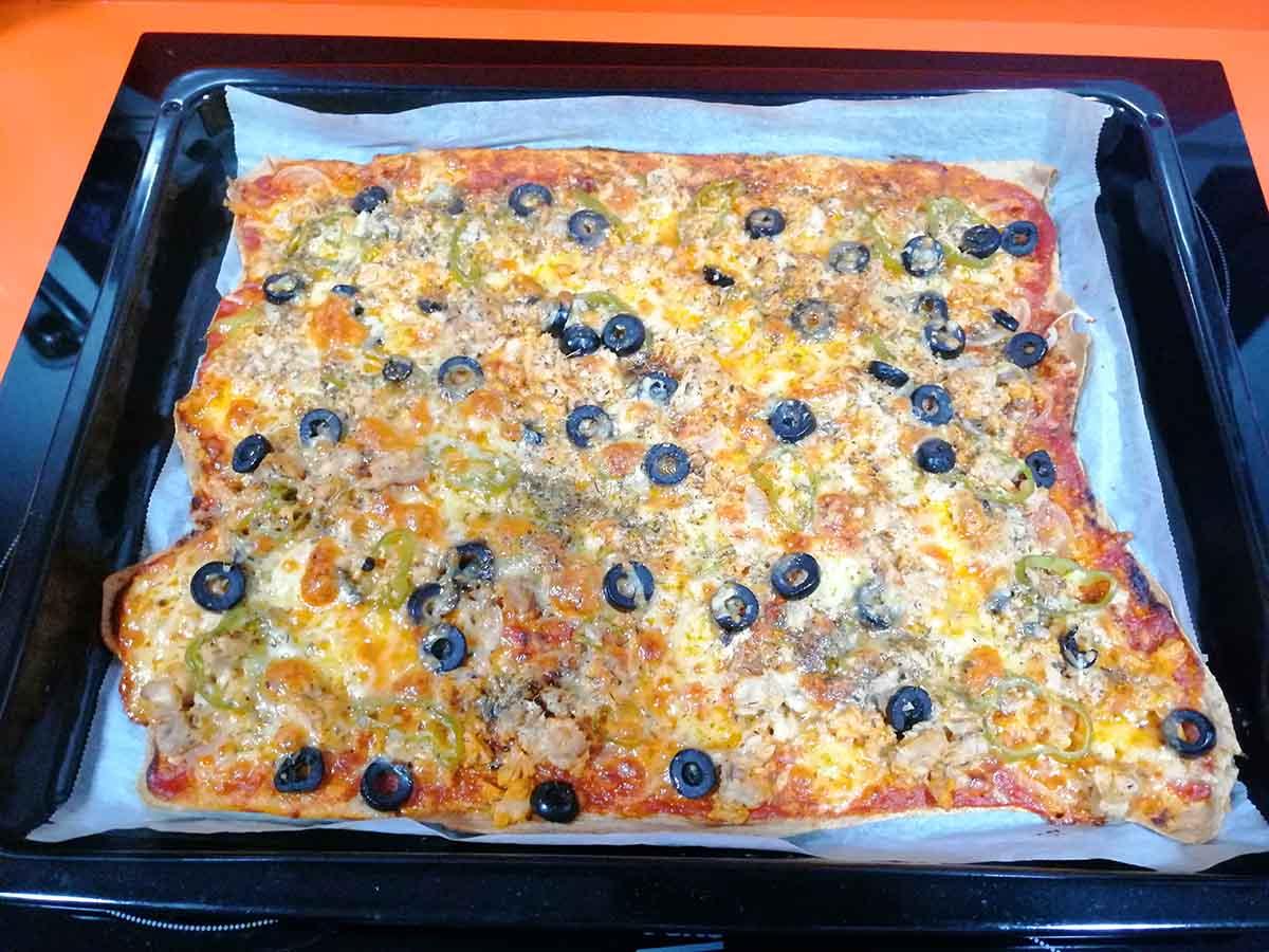 Pizza de Espelta 100 % integral Receta