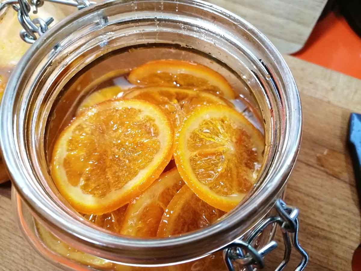 Receta naranjas confitadas