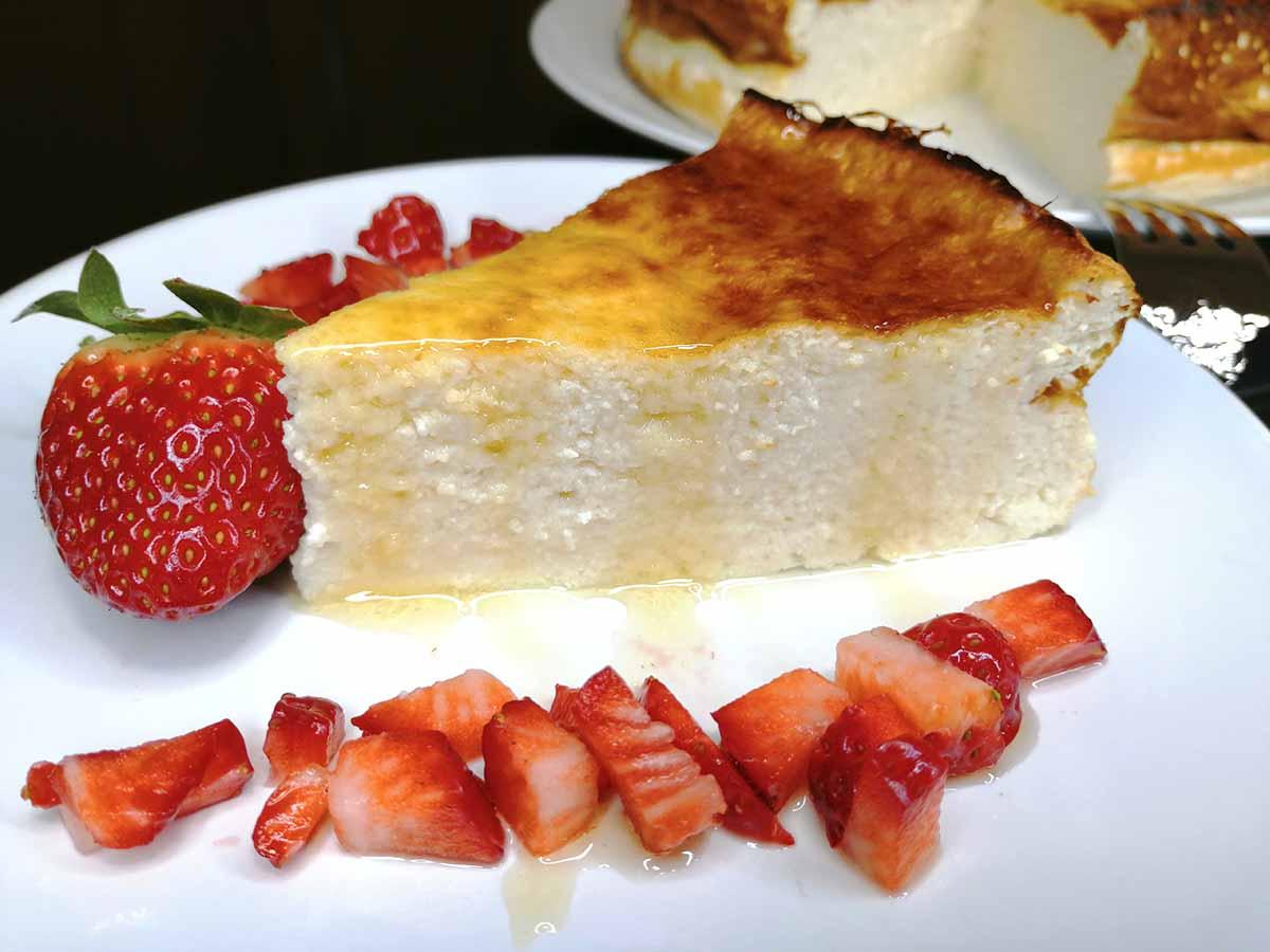 receta de tarta de queso fresco batido y yogur
